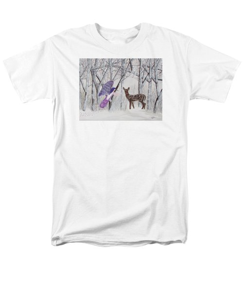 Men's T-Shirt  (Regular Fit) featuring the painting Winter Magic by Cheryl Bailey