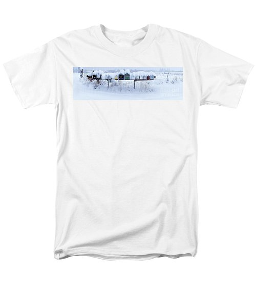 Men's T-Shirt  (Regular Fit) featuring the photograph Winter Mailbox Panorama by Sean Griffin