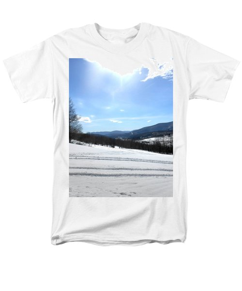 Winter Mountain Views Of Vly And Hunter Men's T-Shirt  (Regular Fit) by Patricia Keller