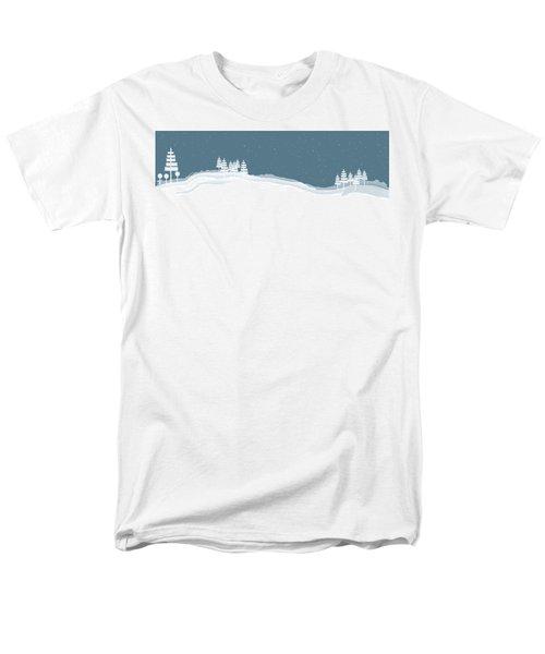 Winter Pines Men's T-Shirt  (Regular Fit) by Kevin McLaughlin