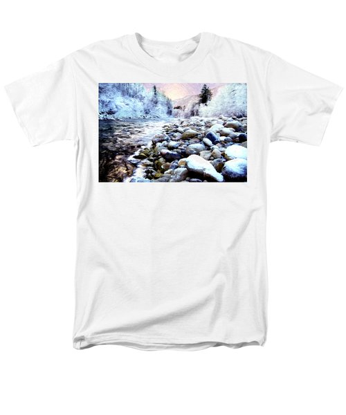 Winter River Men's T-Shirt  (Regular Fit) by Sabine Jacobs