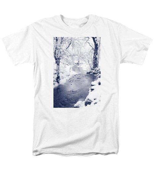 Men's T-Shirt  (Regular Fit) featuring the photograph Winter Stream by Liz Leyden