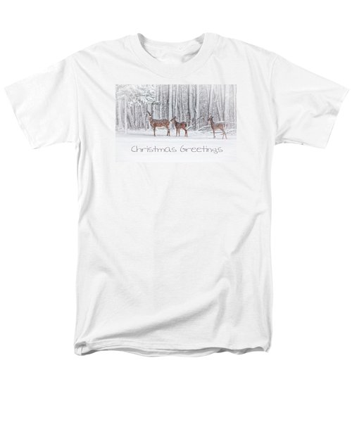 Winter Visits Card Men's T-Shirt  (Regular Fit) by Karol Livote