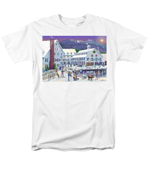 Wintertime At Waterville Valley New Hampshire Men's T-Shirt  (Regular Fit) by Nancy Griswold