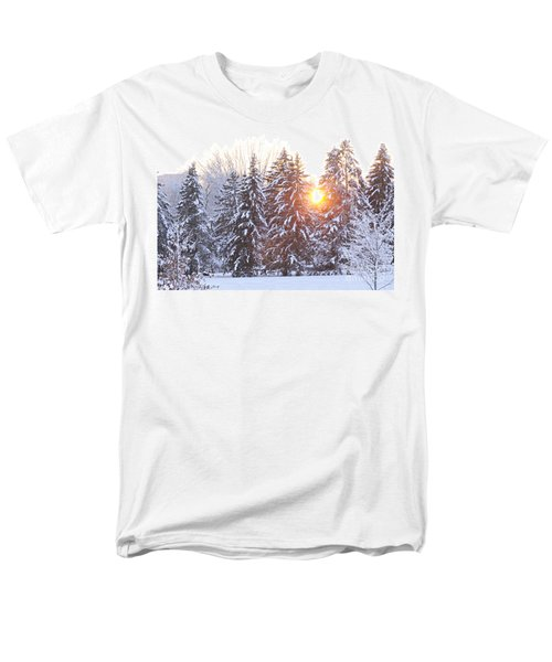 Wintry Sunset Men's T-Shirt  (Regular Fit) by Larry Ricker