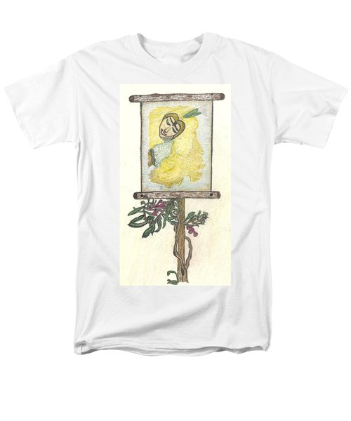 Men's T-Shirt  (Regular Fit) featuring the drawing Wish And Tell by Kim Pate
