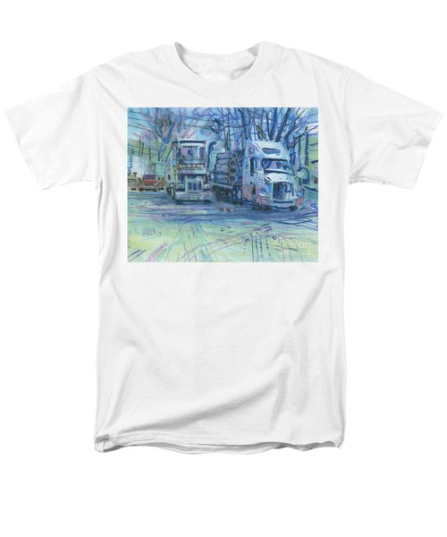 Men's T-Shirt  (Regular Fit) featuring the painting Work Buddies by Donald Maier