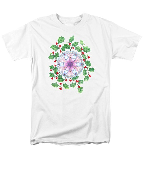 X'mas Wreath Men's T-Shirt  (Regular Fit) by Keiko Katsuta