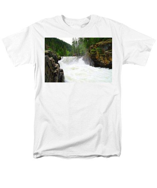 Yaak Falls Men's T-Shirt  (Regular Fit) by Jeff Swan