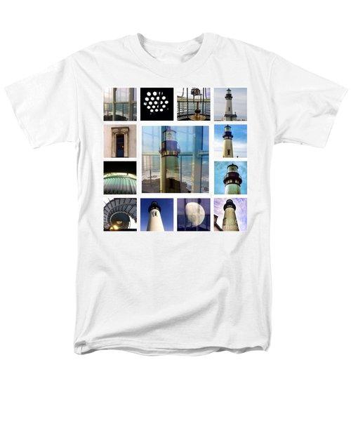 Yaquina Head Lighthouse Essence  Men's T-Shirt  (Regular Fit) by Susan Garren