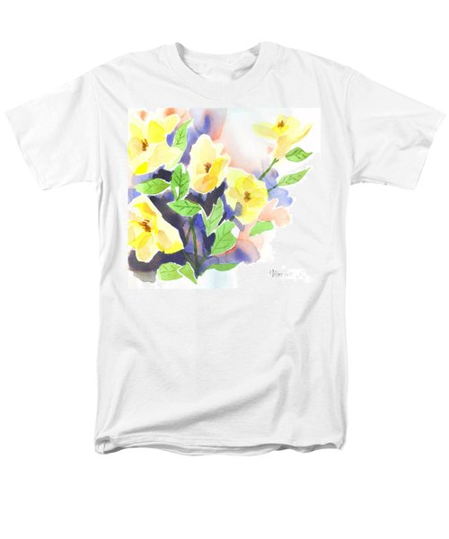 Yellow Magnolias Men's T-Shirt  (Regular Fit) by Kip DeVore