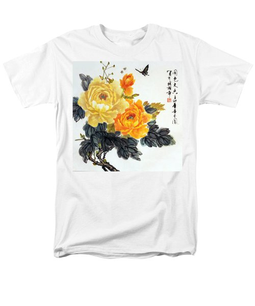 Men's T-Shirt  (Regular Fit) featuring the photograph Yellow Peonies by Yufeng Wang