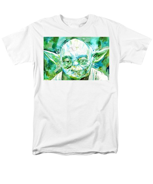 Yoda Watercolor Portrait Men's T-Shirt  (Regular Fit) by Fabrizio Cassetta