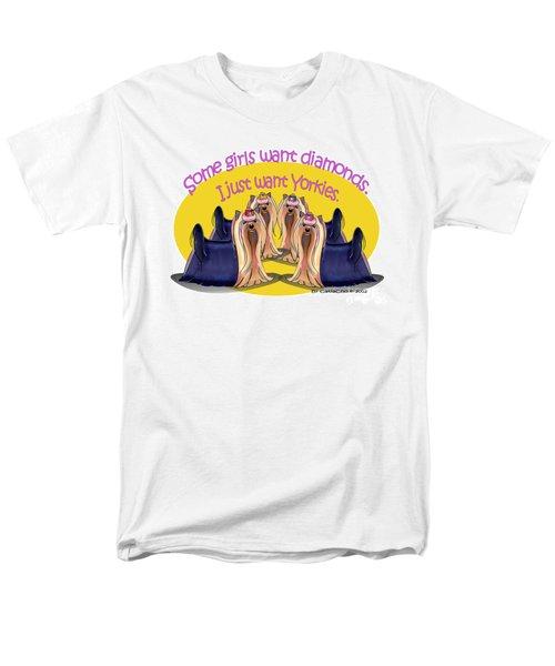 Yorkies Are A Girls Best Friends Men's T-Shirt  (Regular Fit) by Catia Cho
