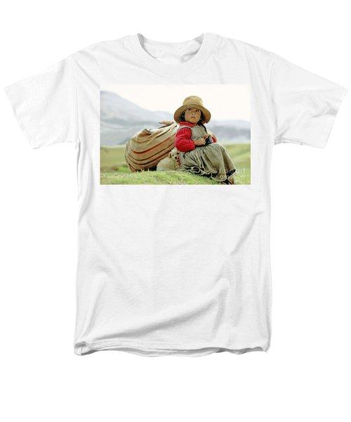 Young Girl In Peru Men's T-Shirt  (Regular Fit)