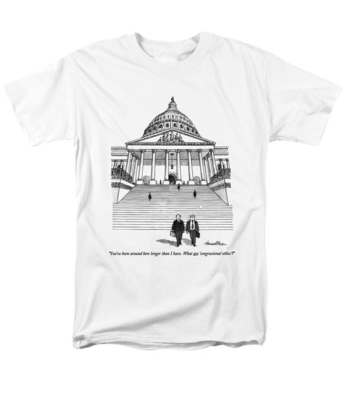 You've Been Around Here Longer Than I Have. What Men's T-Shirt  (Regular Fit) by J.B. Handelsman
