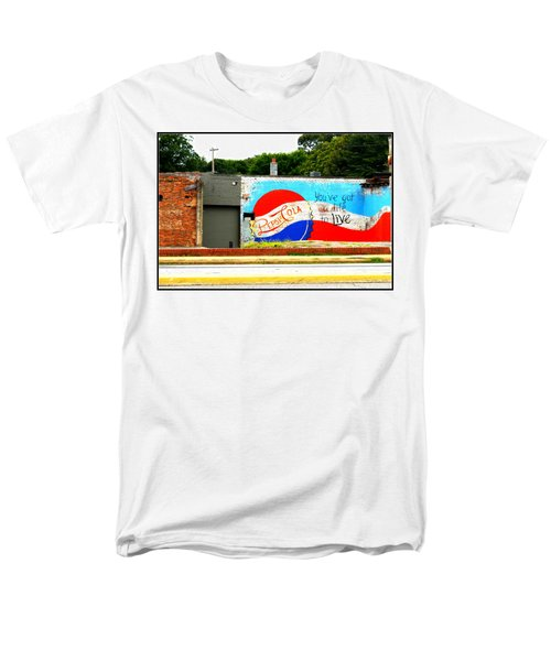You've Got A Life To Live Pepsi Cola Wall Mural Men's T-Shirt  (Regular Fit) by Kathy Barney