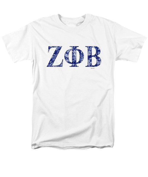 Zeta Phi Beta - White Men's T-Shirt  (Regular Fit) by Stephen Younts