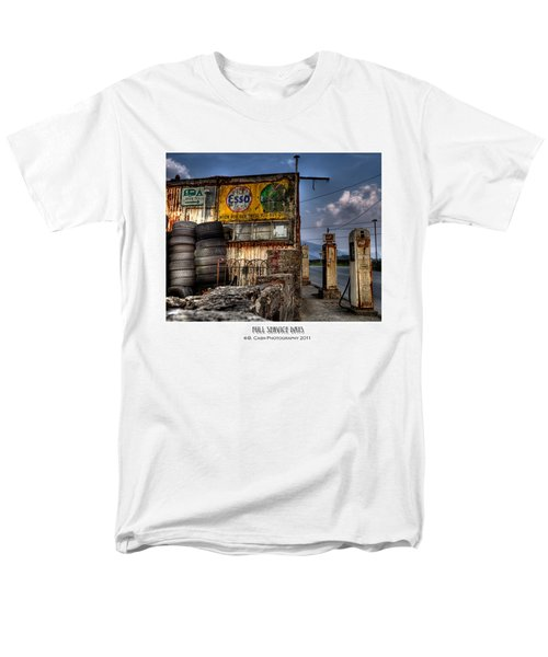 Men's T-Shirt  (Regular Fit) featuring the photograph  Full Service Days by Beverly Cash