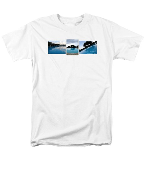 Men's T-Shirt  (Regular Fit) featuring the photograph  Amalfi Coast Pool Reflections by Tanya  Searcy