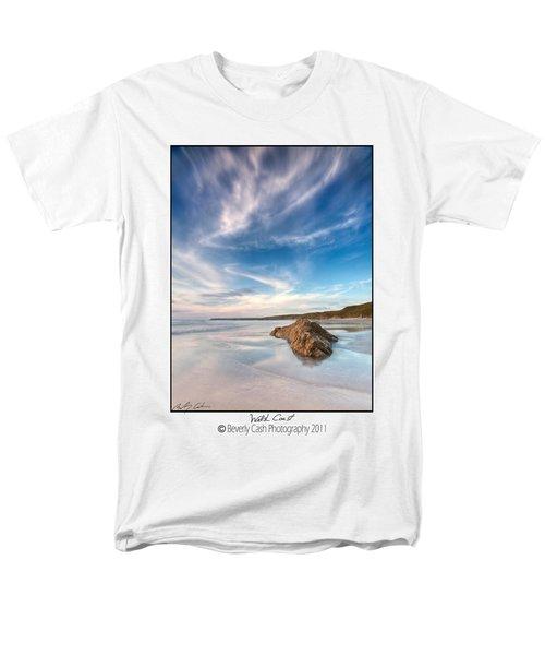 Welsh Coast - Porth Colmon Men's T-Shirt  (Regular Fit) by Beverly Cash