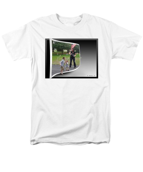 Men's T-Shirt  (Regular Fit) featuring the photograph Chasing Bubbles by Brian Wallace