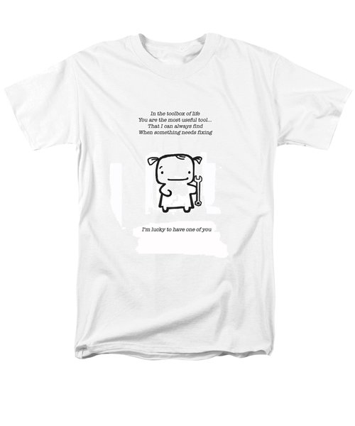 Men's T-Shirt  (Regular Fit) featuring the drawing Most Useful Tool by Leanne Wilkes