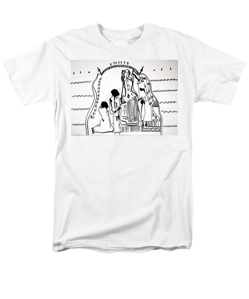 Men's T-Shirt  (Regular Fit) featuring the drawing Presentation Of Jesus In The Temple by Gloria Ssali