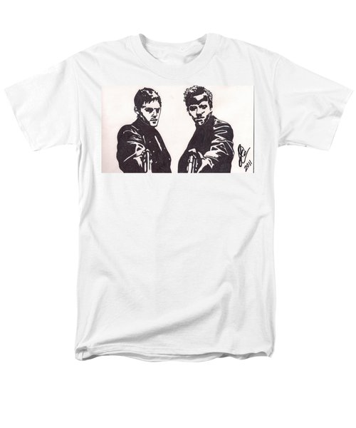 Men's T-Shirt  (Regular Fit) featuring the drawing The Boondock Saints by Jeremiah Colley