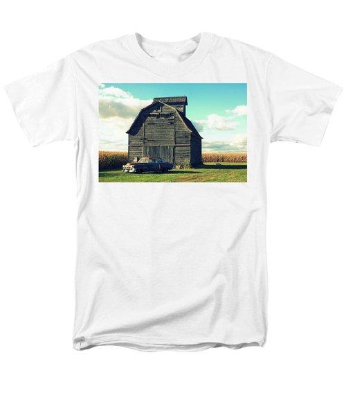 1950 Cadillac Barn Cornfield Men's T-Shirt  (Regular Fit) by Lyle Hatch