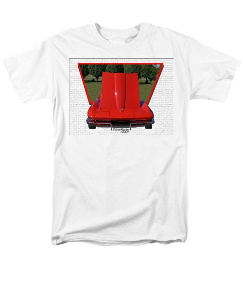 Men's T-Shirt  (Regular Fit) featuring the photograph 1965 Corvette by EricaMaxine  Price