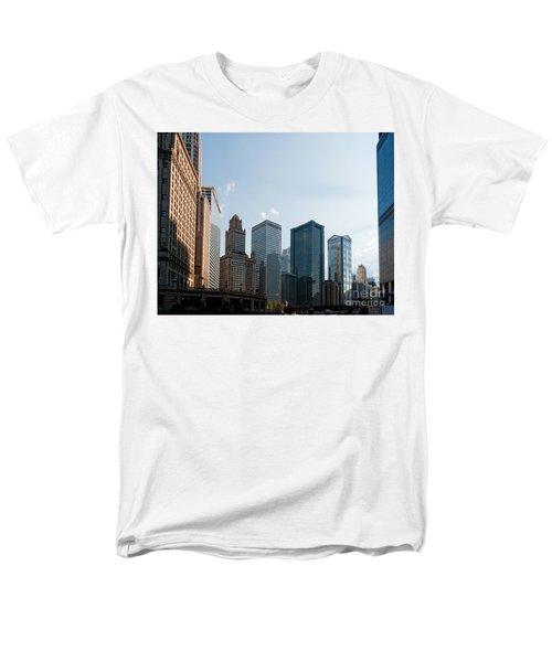 Chicago City Center Men's T-Shirt  (Regular Fit) by Carol Ailles
