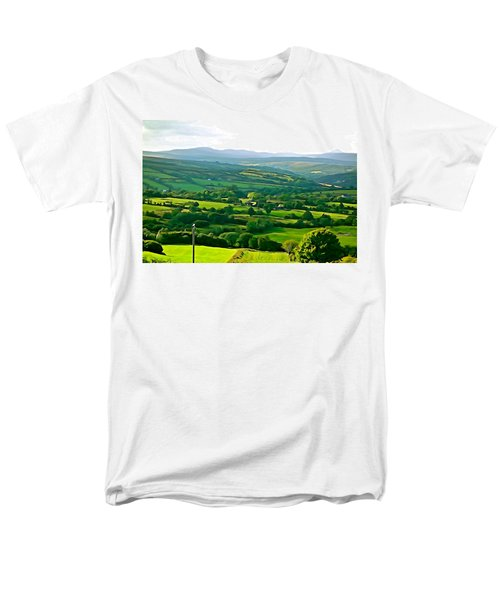 Men's T-Shirt  (Regular Fit) featuring the photograph 50 Shades Of Green by Charlie and Norma Brock