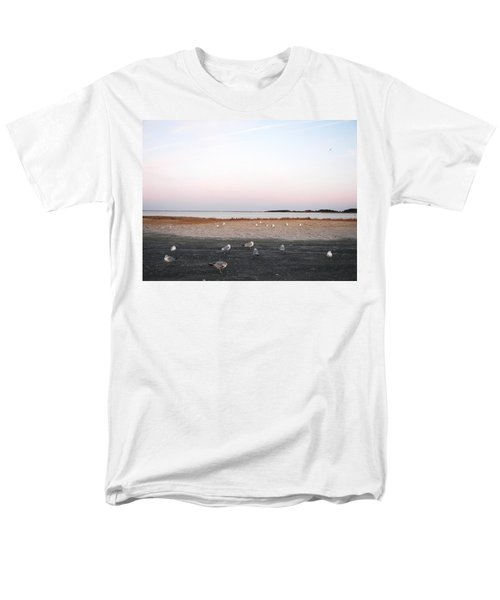 Men's T-Shirt  (Regular Fit) featuring the photograph A Gathering On Rehoboth Bay by Pamela Hyde Wilson