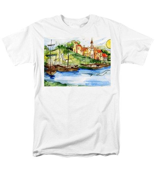 A Little Fisherman's Village Men's T-Shirt  (Regular Fit)