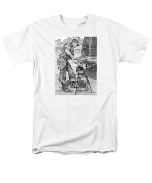 A Man And His Trade - Farrier Art Print Men's T-Shirt  (Regular Fit) by Kelli Swan