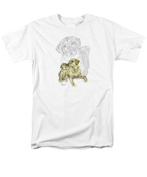 A Mothers Love - Labrador Dog Print Color Tinted Men's T-Shirt  (Regular Fit) by Kelli Swan