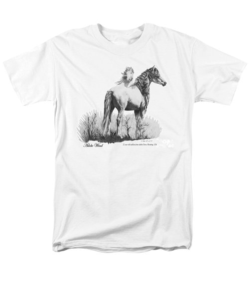 Men's T-Shirt  (Regular Fit) featuring the drawing Adobe Wind by Marianne NANA Betts