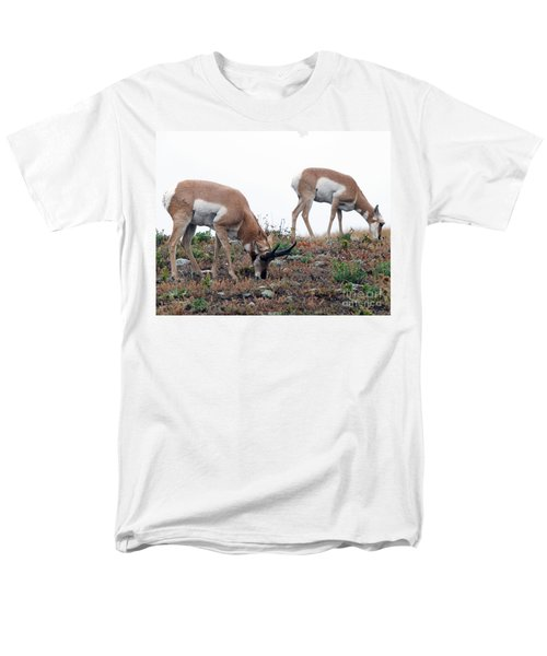 Men's T-Shirt  (Regular Fit) featuring the photograph Antelopes Grazing by Art Whitton