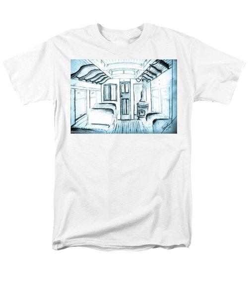 Men's T-Shirt  (Regular Fit) featuring the drawing Antique Passenger Car by Shannon Harrington