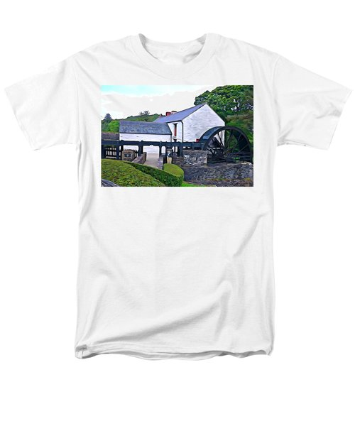 Men's T-Shirt  (Regular Fit) featuring the photograph Auld Mill  by Charlie and Norma Brock