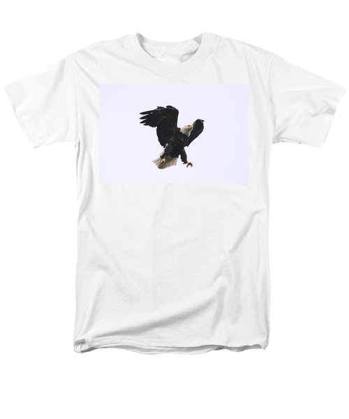 Men's T-Shirt  (Regular Fit) featuring the photograph Bald Eagle Tallons Open by Kym Backland