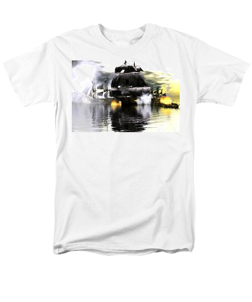 Men's T-Shirt  (Regular Fit) featuring the digital art Battle Smoke by Claude McCoy