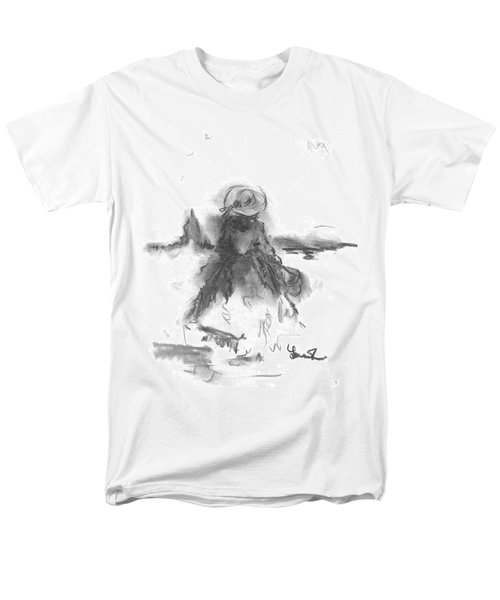 Men's T-Shirt  (Regular Fit) featuring the drawing Being Happy by Laurie L