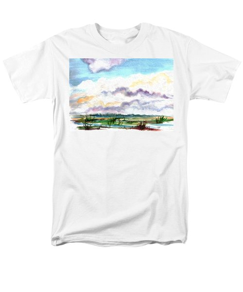 Men's T-Shirt  (Regular Fit) featuring the painting Big Clouds by Clara Sue Beym