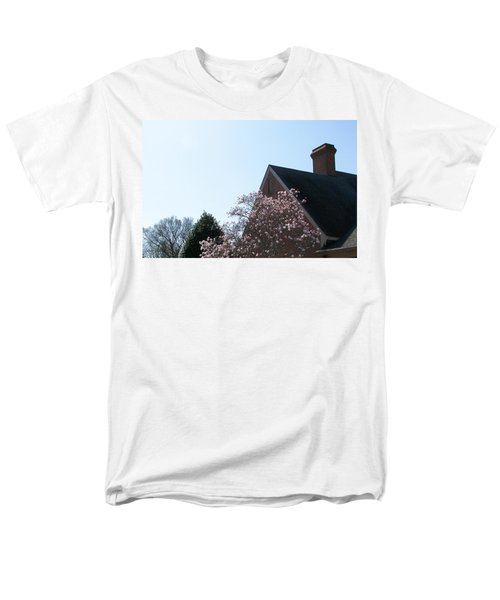 Men's T-Shirt  (Regular Fit) featuring the photograph Brick And Blossom by Pamela Hyde Wilson