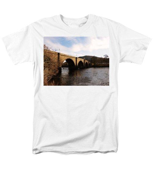 Men's T-Shirt  (Regular Fit) featuring the photograph Bridge Across River Tay by Lynn Bolt