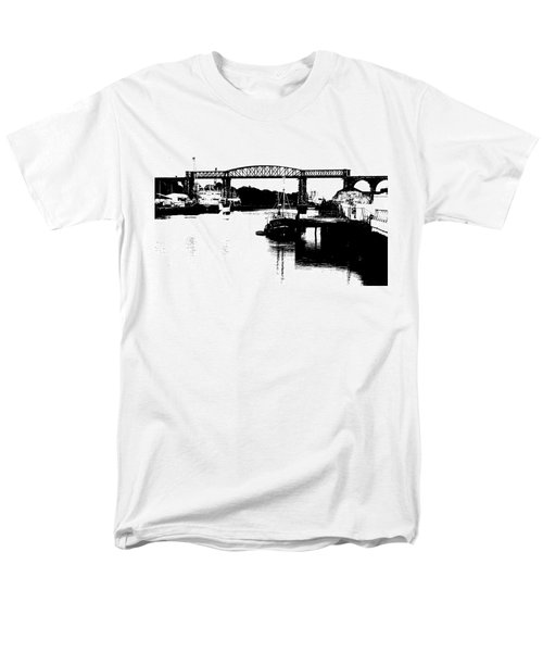 Men's T-Shirt  (Regular Fit) featuring the photograph Bridge On The Boyne by Charlie and Norma Brock