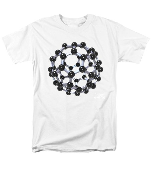 Buckminsterfullerene Or Buckyball C60 18 Men's T-Shirt  (Regular Fit) by Russell Kightley