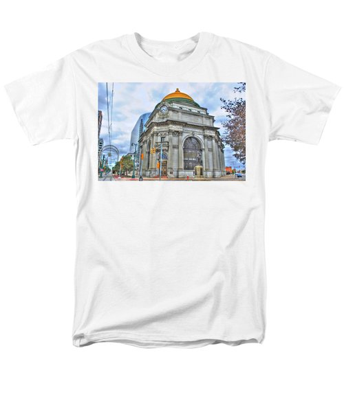 Men's T-Shirt  (Regular Fit) featuring the photograph Buffalo Savings Bank  Goldome  M And T Bank Branch by Michael Frank Jr